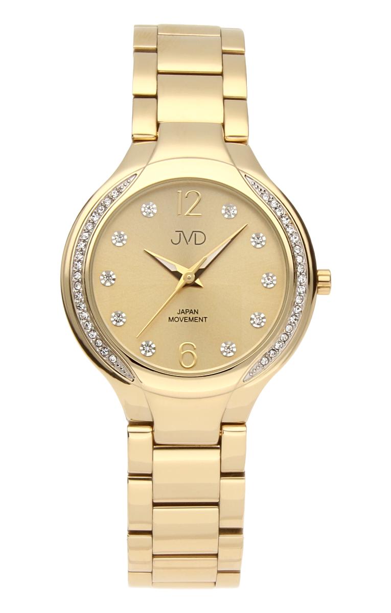 a8104d1704b Šperkové perleťové nerezové dámské hodinky JVD JC068.2 - 5ATM s krystalky