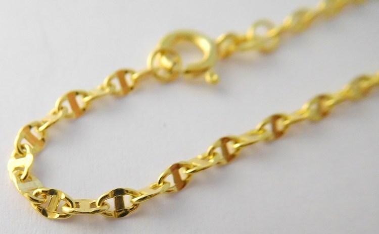 3a6b5651f Mohutný silný velký pánský zlatý náramek s gravírováním 20cm 585/0,85gr  3640164