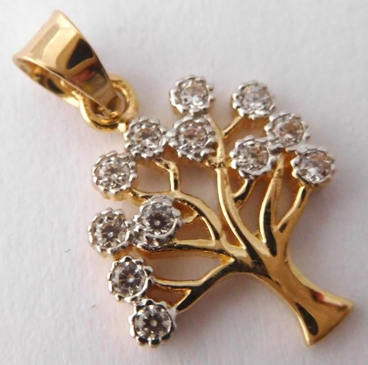 Velký přívěsek ze žlutého zlata - strom života 585/1,06gr H634 (112-4073 - POŠTOVNÉ ZDARMA)