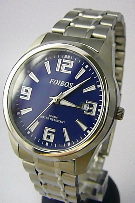 Čitelné ocelové pánské značkové vodotěsné hodinky Foibos 6188.3 - 10ATM