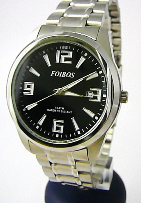 Čitelné ocelové pánské značkové vodotěsné hodinky Foibos 6188.1 - 10ATM