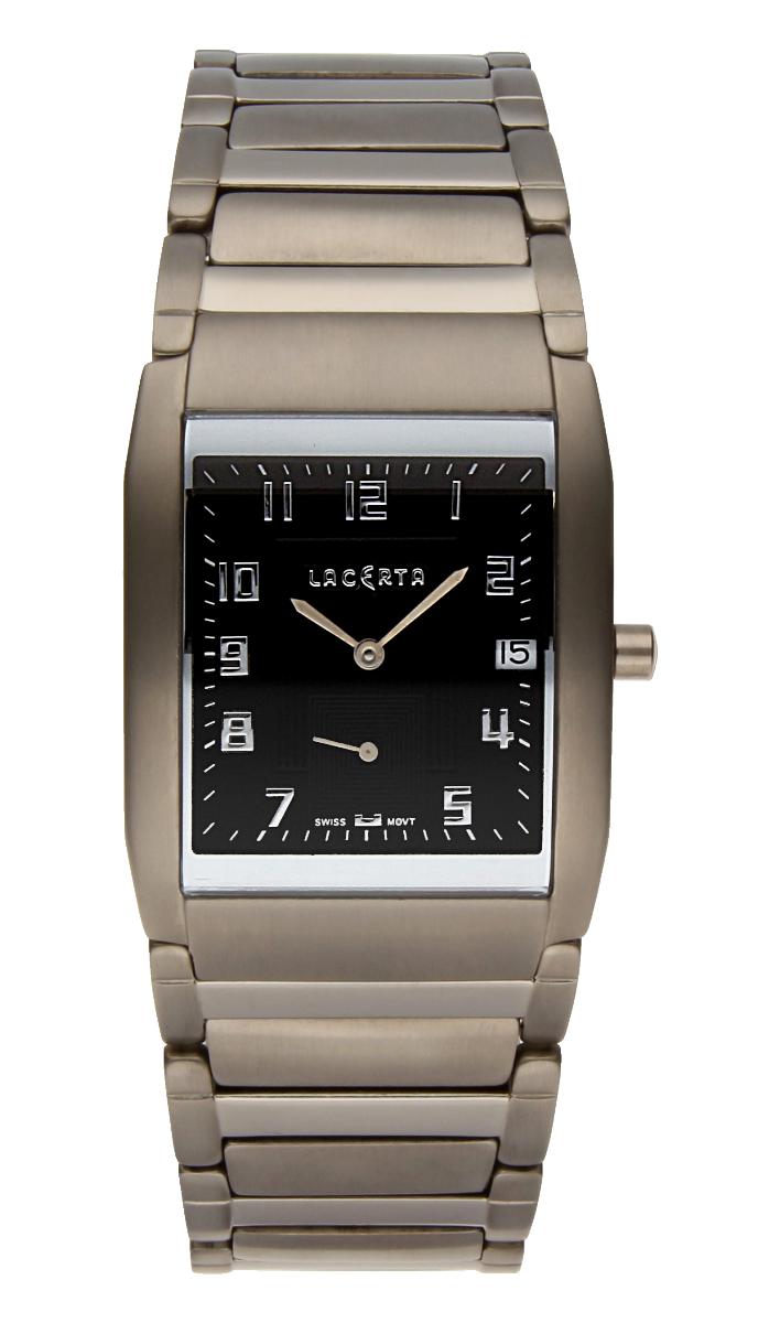 Luxusní pánské švýcarské titanové hodinky Lacerta 109 C9 554 se safírovým sklem