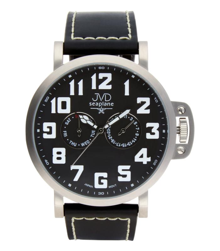 Luxusní pánské vodotěsné ocelové hodinky hodinky JVD Seaplane JA1323.1 (POŠTOVNÉ ZDARMA!!)