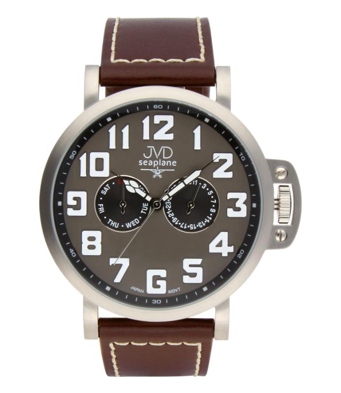 Luxusní pánské vodotěsné ocelové hodinky hodinky JVD Seaplane JA1323.2 (POŠTOVNÉ ZDARMA!!)
