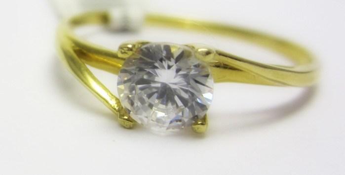 Luxusní zásnubní zlatý prsten s velkým zirkonem 585/1,25 gr vel. 55 P684 (4515042)