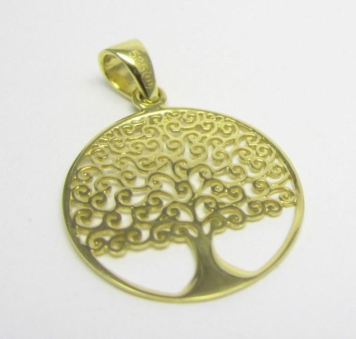 Zlatý přívěsek ve žlutém zlatě - strom života 585/0,86gr H641
