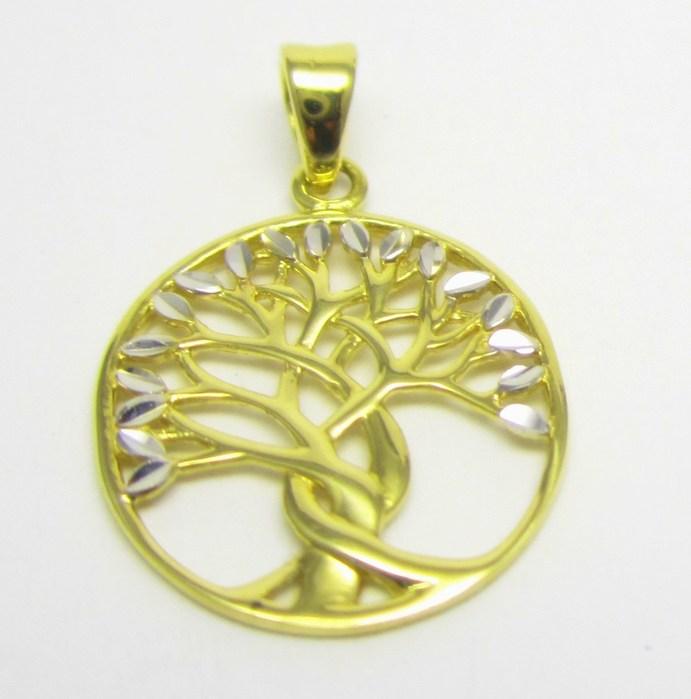 Zlatý přívěsek v kombinaci zlata - strom života 585/1,14 gr H642