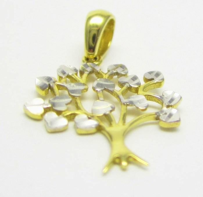 Zlatý přívěsek v kombinaci zlata - strom života 585/0,89 gr H646