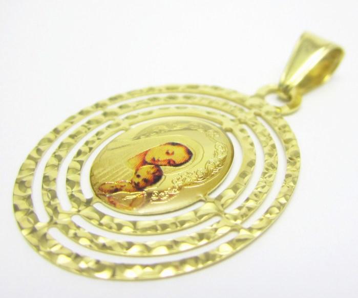 Velká zlatá madonka - zlatá madona přívěsek 585/1,67gr H662