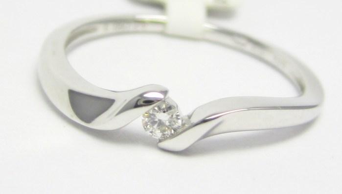 Zásnubní diamantový prsten z bílého zlata 0,05ct 3860690