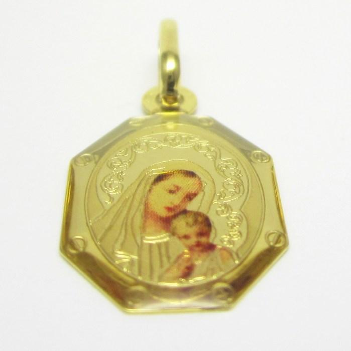 Zlatá madonka s dítětem - zlatá madona přívěsek 585/1,00gr H679