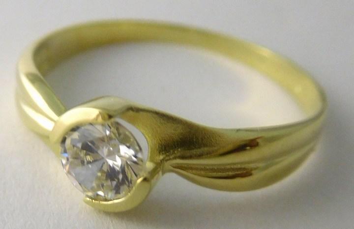 Luxusní zásnubní zlatý prsten s velkým zirkonem 585/2,33gr vel. 61 Z158 (223041103 - POŠTOVNÉ ZDARMA)