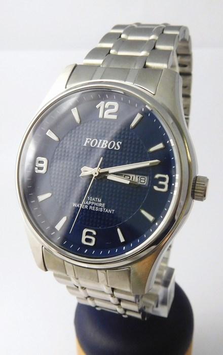 Pánské ocelové vodotěsné hodinky Foibos 6370.3 se safírovým sklem 10ATM 9586409a41a