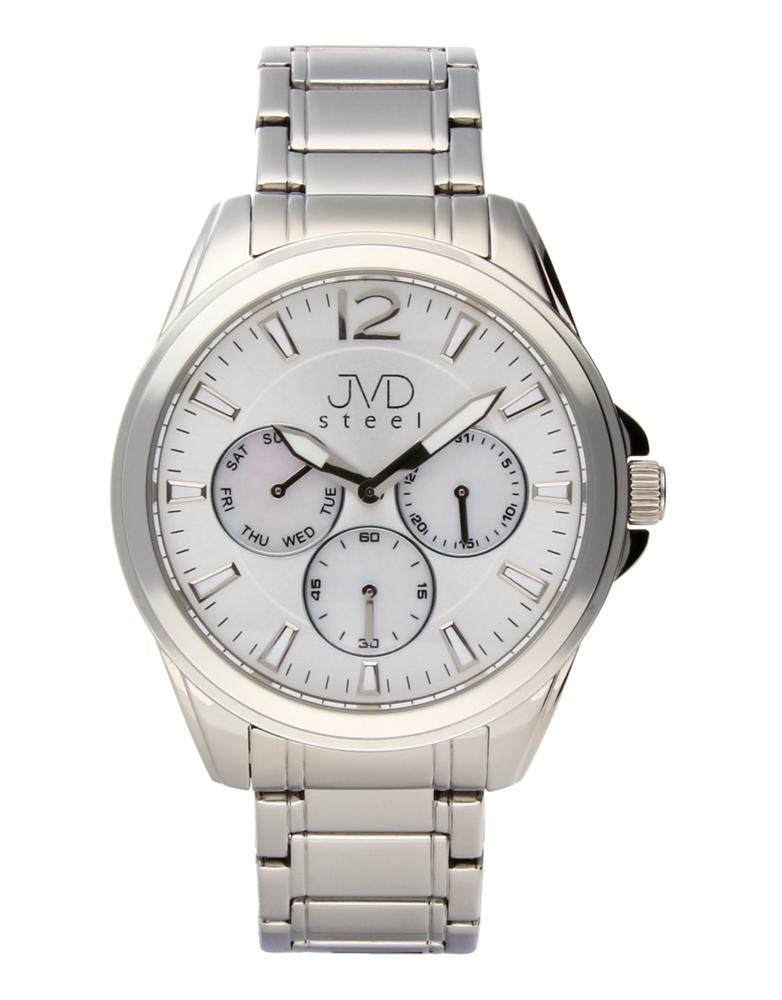 Ocelové moderní pánské hodinky hodinky JVDW 36.1 se třemi ciferníky