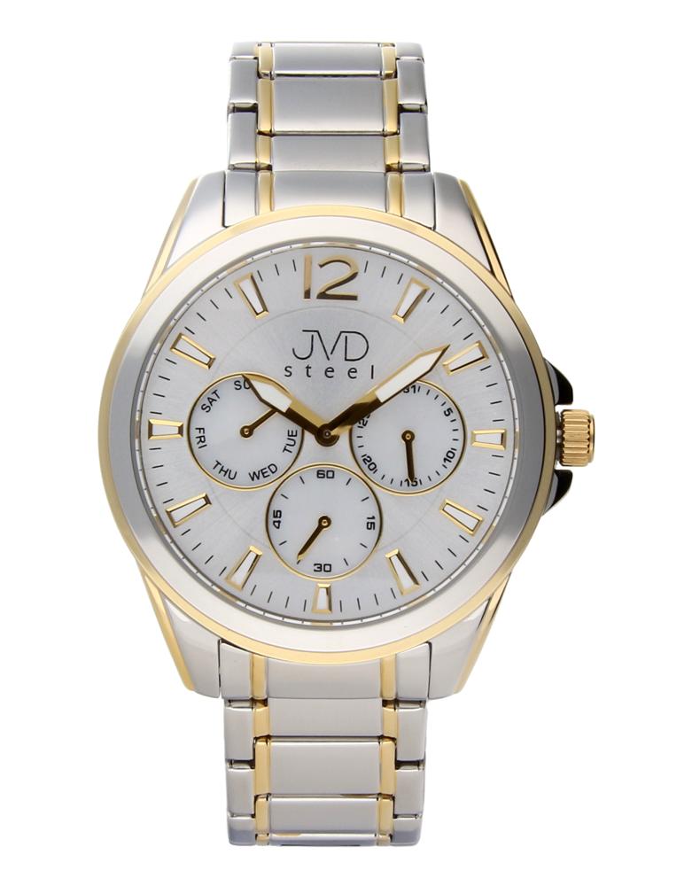 Ocelové moderní pánské hodinky hodinky JVDW 36.2 se třemi ciferníky