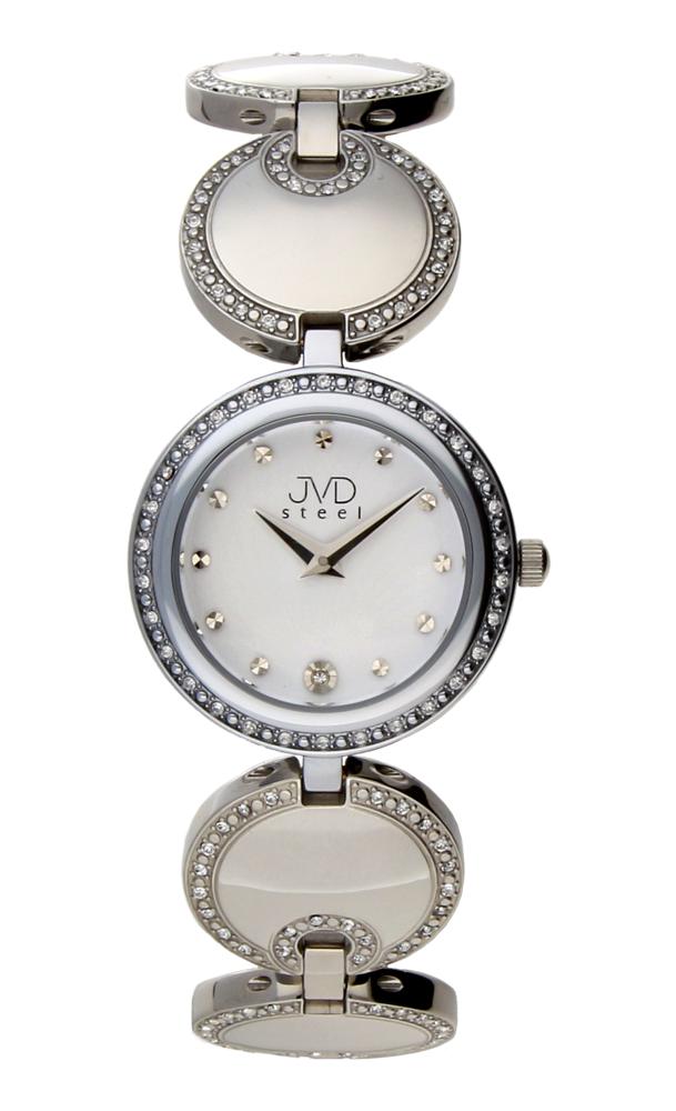 Dámské šperkové ocelové stříbrné hodinky JVD W19.1 - elegance sama  -) d25ab261d5d