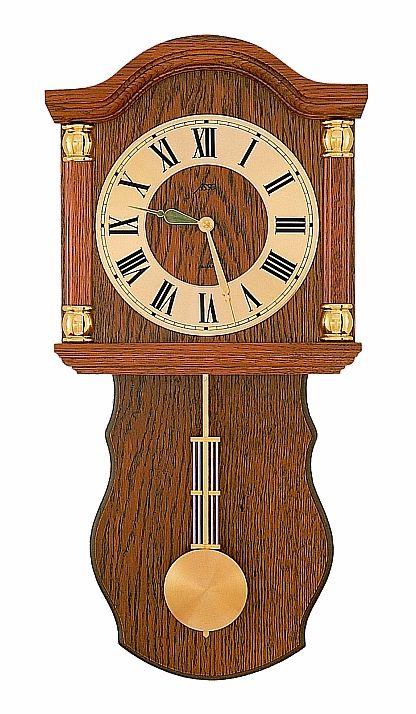 Luxusní dřevěné kyvadlové nástěnné hodiny ASSO A17/236/4