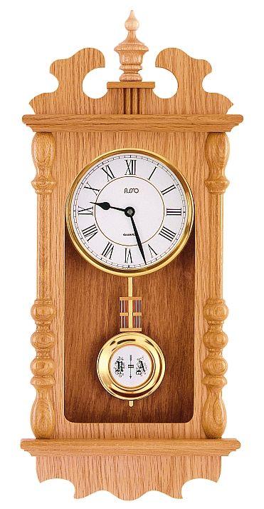 Luxusní kyvadlové dřevěné nástěnné hodiny ASSO A19/135/6M