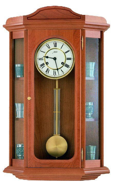Luxusní kyvadlové dřevěné nástěnné hodiny ASSO A19/235/2 (POŠTOVNÉ ZDARMA!!)