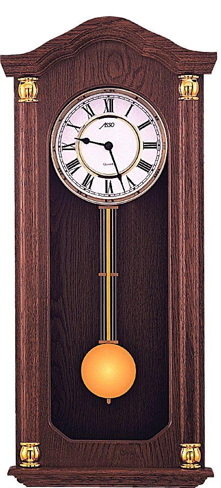 Luxusní kyvadlové dřevěné nástěnné hodiny ASSO A19/294/3