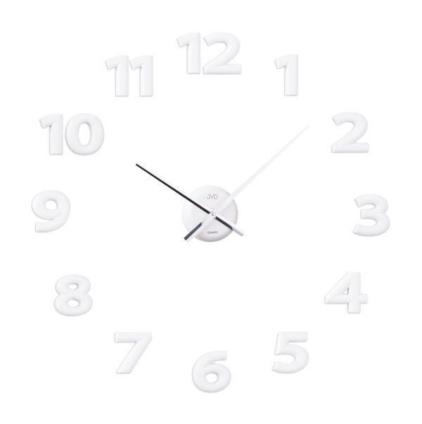 Bílé exkluzivní luxusní nalepovací hodiny JVD HB12.2