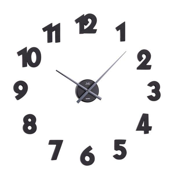 Exkluzivní černé nalepovací hodiny JVD HB25 (arabské číslice)