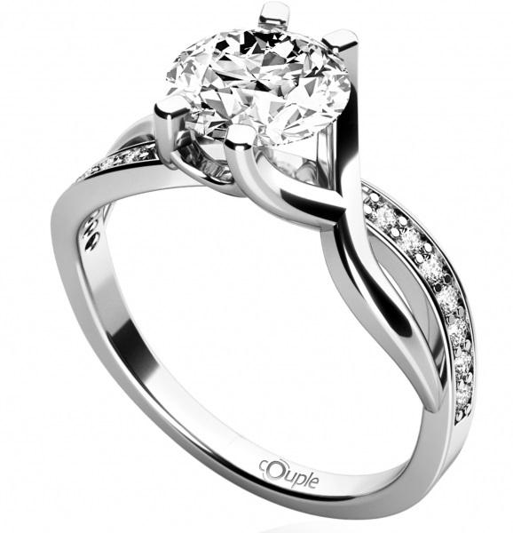 Zásnubní zlatý prsten se zirkonem 585/2,47gr vel. 52 4565065 POŠTOVNÉ ZDARMA!! (4565065)