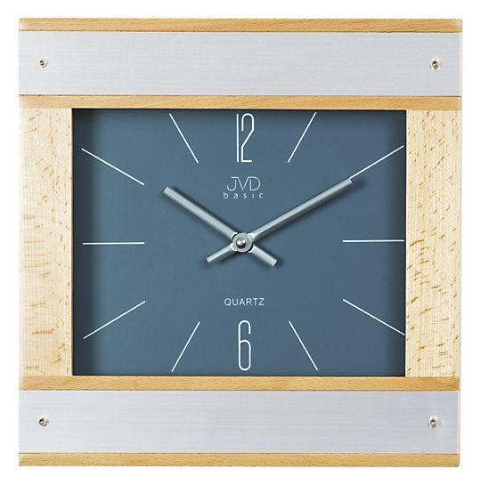 Dřevěné skleněné hodiny JVD basic N27064B