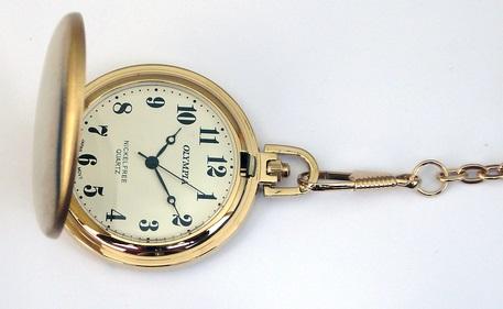 Zlacené kapesní hodinky Olympia 30428 (POŠTOVNÉ ZDARMA!!)