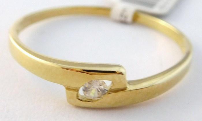 Dámský zlatý prsten (zásnubní) se zirkonem 585/1,22gr vel. 60 4010043