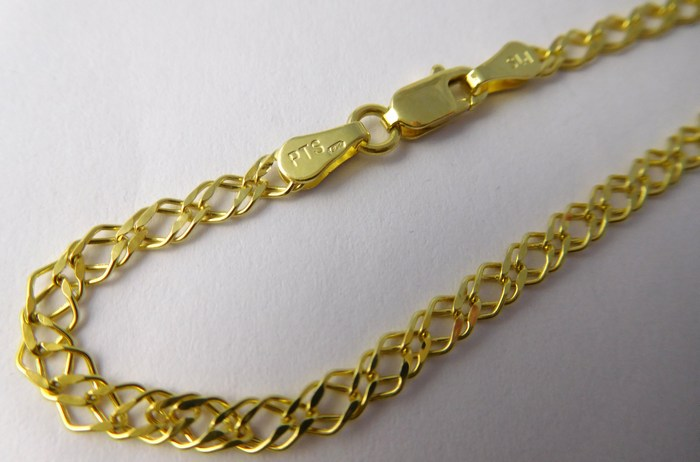 Mohutný pánský pevný zlatý řetízek šíře 3mm 585/3,79gr 55cm H723 POŠTOVNÉ ZDARMA