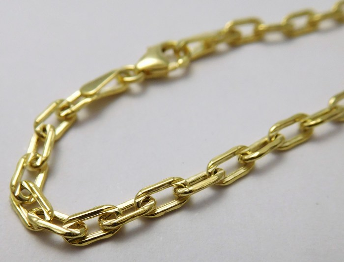 Pánský mohutný zlatý řetěz (řetízek) 50cm 585/3,53gr H726