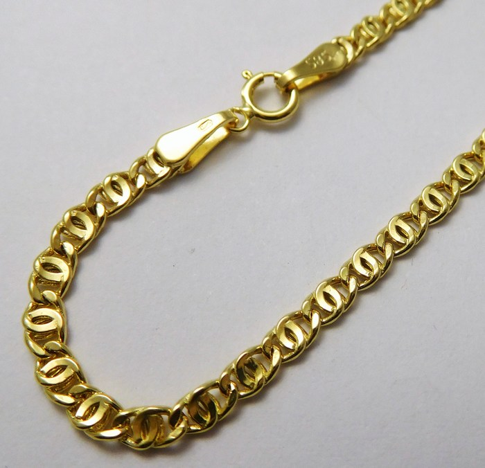Dámský/pánský mohutný zlatý řetěz (řetízek) 50cm 585/2,50gr H835 ( POŠTOVNÉ ZDARMA!!!!)