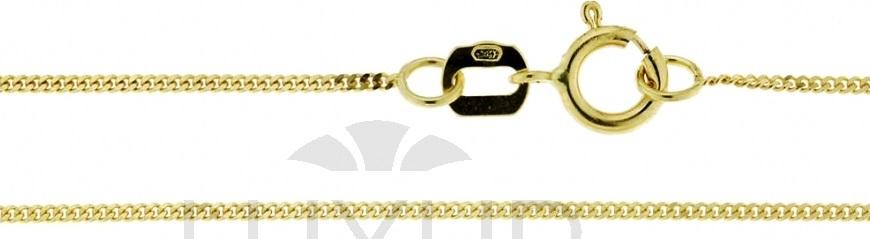 Zlatý dětský řetízek - PANCER 585/0,85gr 38cm 3640050 (3640050)