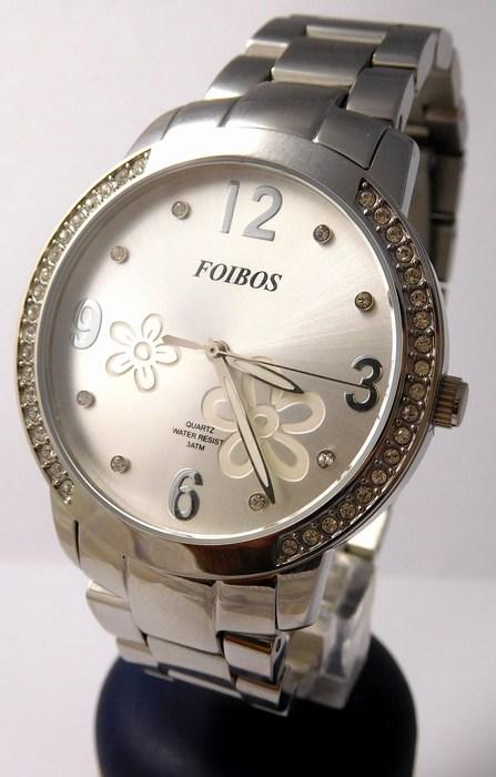 Dámské šperkové stříbrné hodinky s kamínky po obvodu Foibos 25962 (POŠTOVNÉ ZDARMA!!!!)