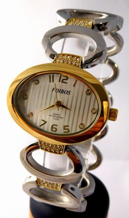 Dámské šperkové stříbrné hodinky s kamínky na pásku Foibos 24221 BICOLOR (POŠTOVNÉ ZDARMA!!!!)
