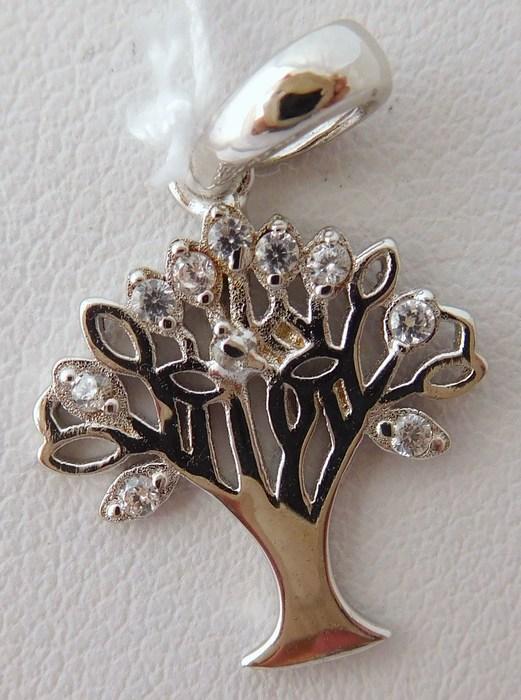 Krásný stříbrný přívěšek se zirkony - strom života 03052860002