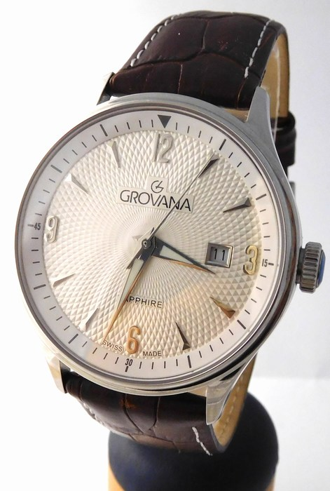 Pánské luxusní švýcarské hodinky Grovana 1191.1532 - safírové sklo 5ATM 497a3f4c4b