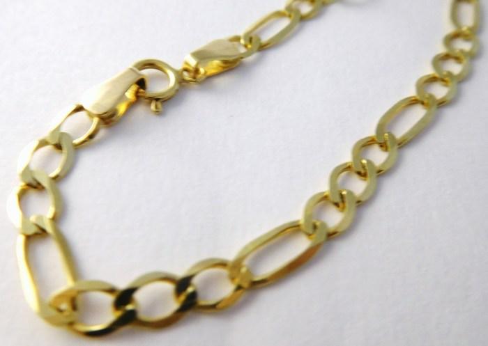 42b872a5b Zlatý náramek - pánské - dámské plné FIGARO 585/2,40gr 19cm T216 ...