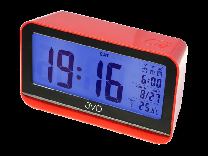 Digitální budík JVD SB130.1 (se senzorem podsvícení - červený)