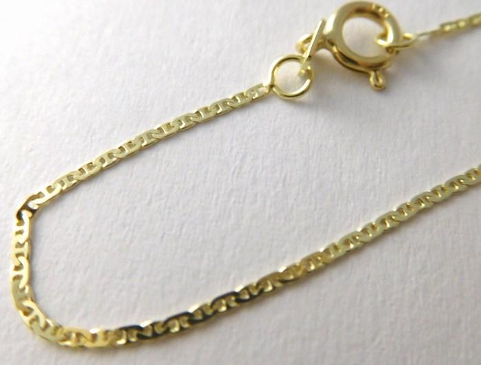 Dětský zlatý přívěskový řetízek s gravírováním 585/1,05gr 36cm 3640071 (3640071)