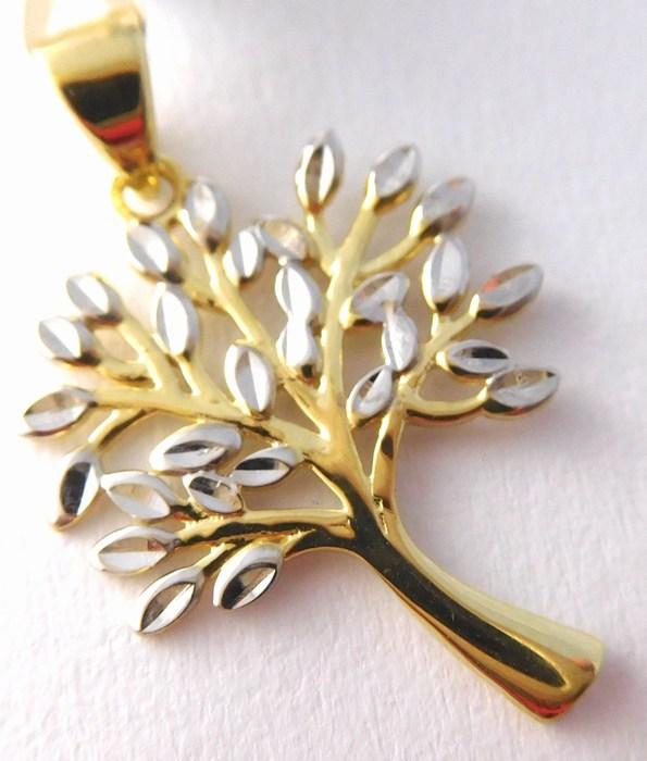 Zlatý přívěsek - zlatý strom života z bílého a žlutého AU 585/1,07gr 1420797 (1420797 POŠTOVNÉ ZDARMA!!)
