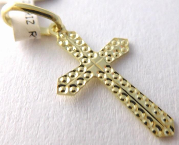Gravírovaný zlatý křížek - přívěsek 20x12mm 585/0,37gr 1322262