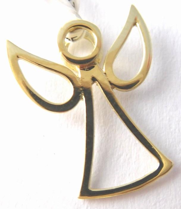 Zlatý andělíček ze žlutého zlata - přívěsek 585/0,65gr 6820029 (6820030)