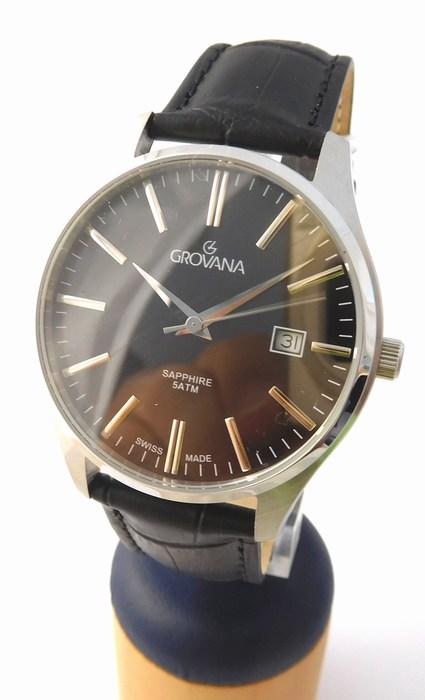 Pánské švýcarské luxusní hodinky Grovana 1568.1537 se safírovým nepoškr. sklem (POŠTOVNÉ ZDARMA!!!!)