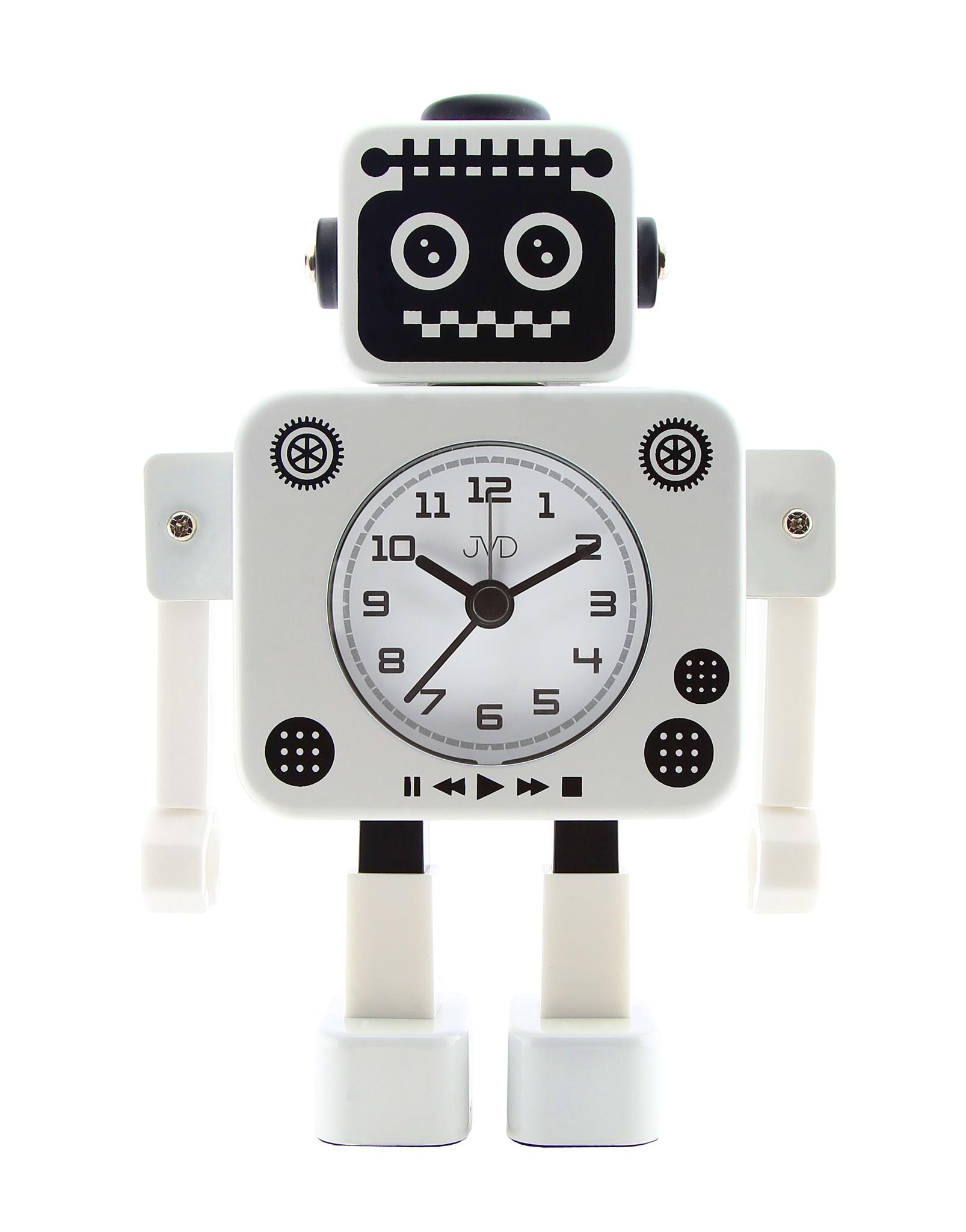 Dětský budík JVD ROBOT SRP2312.3 (modrý)
