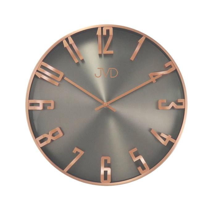 Kovové 3D designové nástěnné hodiny JVD HO171.2 - měděné