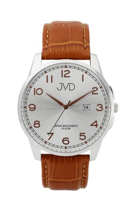Pánské luxusní vodotěsné náramkové hodinky JVD J1112.1 na koženém pásku (POŠTOVNÉ ZDARMA!!)