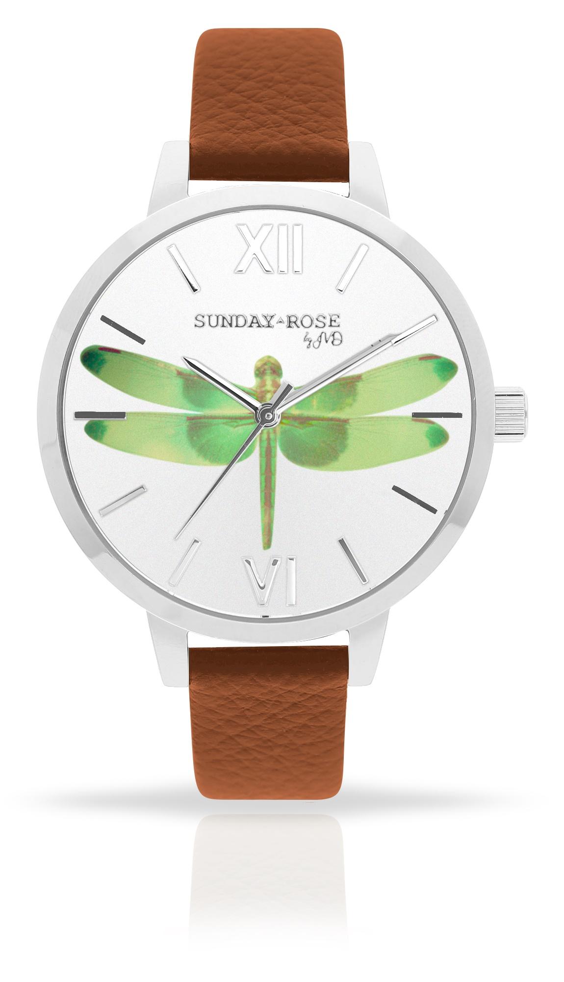 Dámské luxusní designové hodinky SUNDAY ROSE Alive FLY, DRAGONFLY! (POŠTOVNÉ ZDARMA!!)