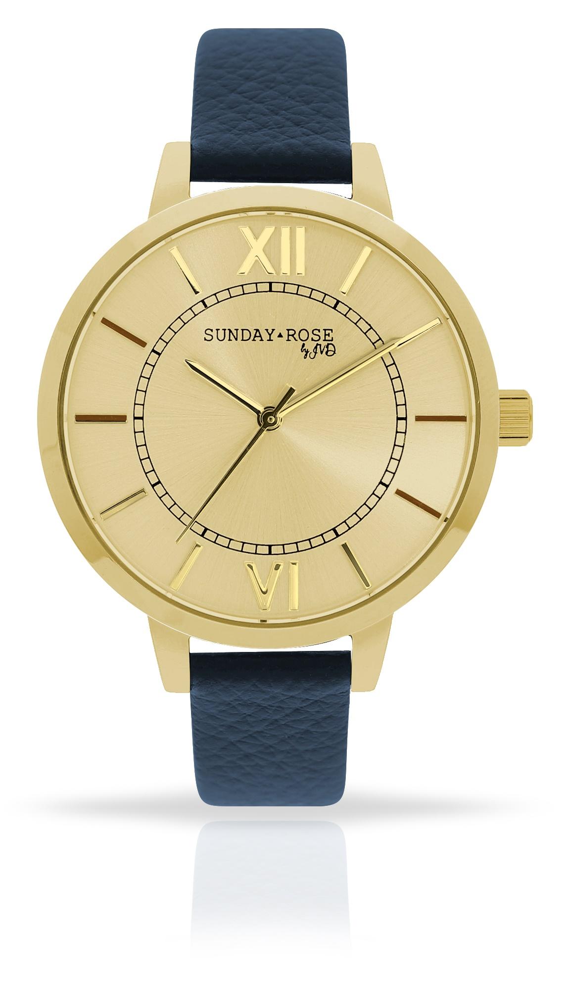 Dámské luxusní designové hodinky SUNDAY ROSE Classic NAVY BLUE (POŠTOVNÉ ZDARMA!!)